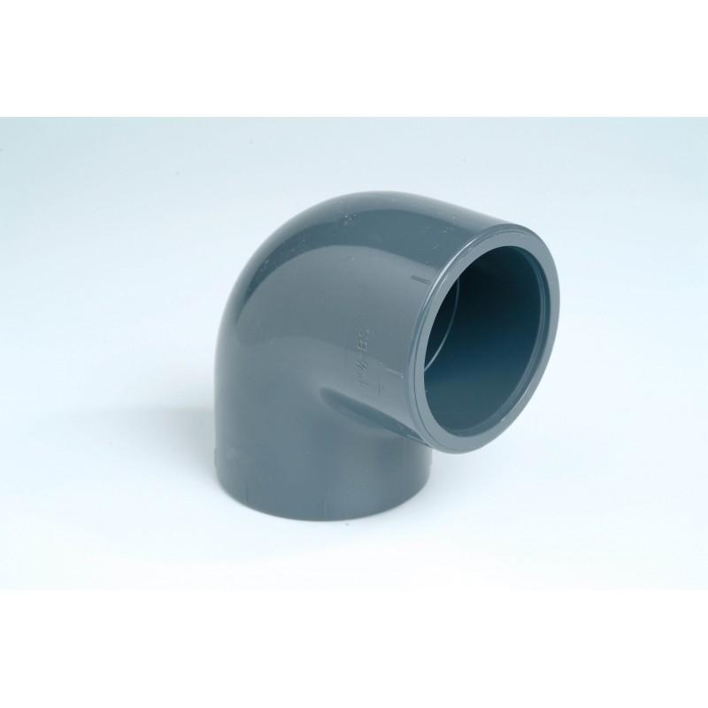 Coude PVC Pression 90° Diamètre 32 PN16 à coller