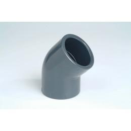 Coude PVC Pression 45° Diamètre 16 PN16 à coller