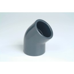 Coude PVC Pression 45° Diamètre 63 PN16 à coller