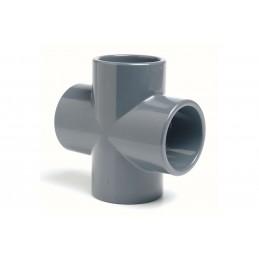 Croix PVC Pression 90° Diamètre 75 PN16 à coller