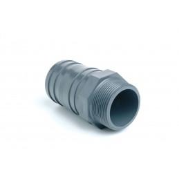 """Douille Cannelée PVC Pression Diamètre 50x1""""1/2 Mixte Mâle à visser"""