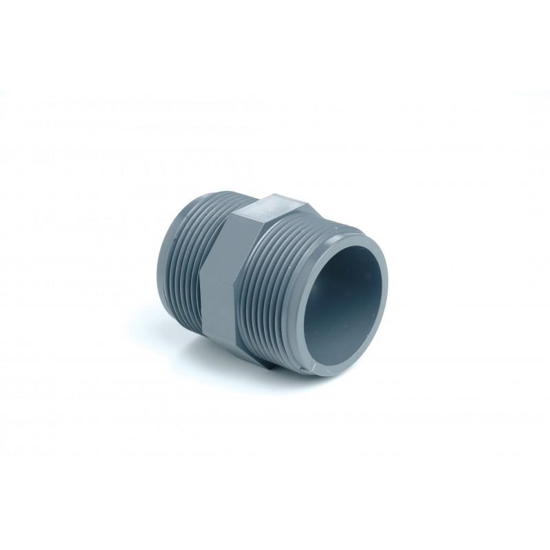 """Mamelon PVC Pression Diamètre 3/8"""" PN16 MM à visser"""