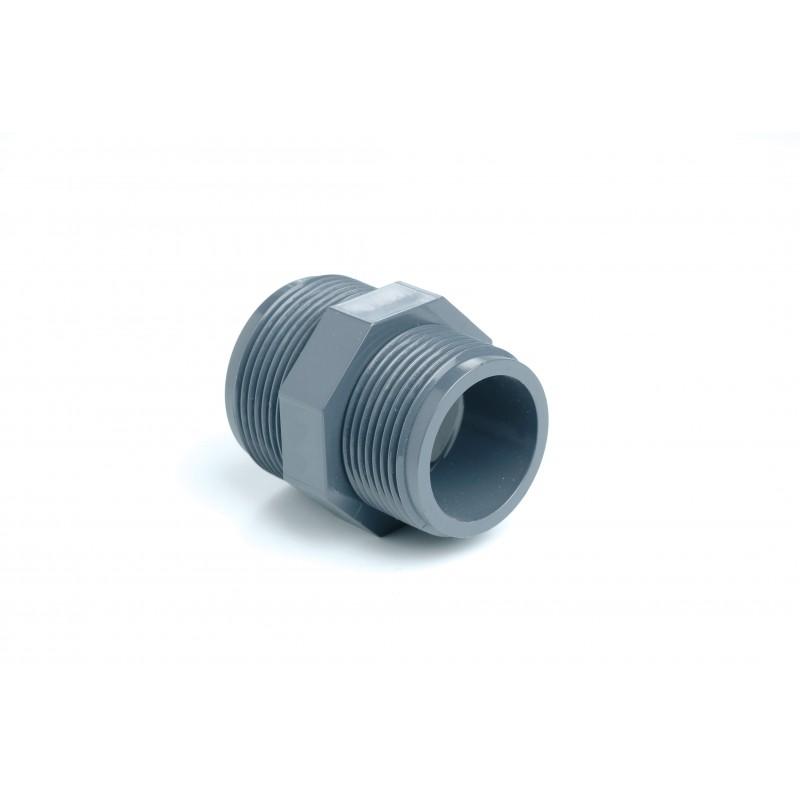 """Mamelon Réduit PVC Pression Diamètre 1/2""""x3/8"""" PN16 MM à visser"""