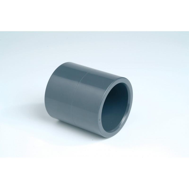 Manchon PVC Pression Diamètre 50 PN16 FF à coller