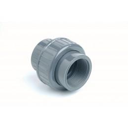 """Union 3 pièces PVC Diamètre 50x1""""1/2 PN16 FF à visser"""