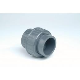 Union 3 pièces PVC Diamètre 12 PN16 FF à coller