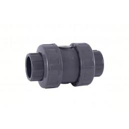Clapet à Bille PVC Pression Diamètre 50 PN16 EPDM à coller