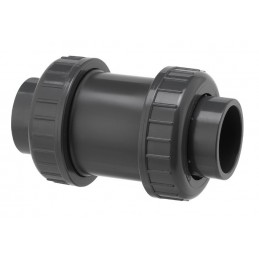 Clapet de Retenue PVC Pression Diamètre 63 PN16 EPDM à coller