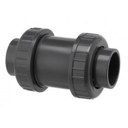 Clapet de Retenue PVC Pression Diamètre 63 PN16 FPM à coller