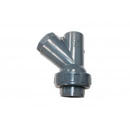 Clapet Y PVC Pression Diamètre 75 PN10 FF à coller