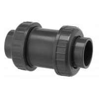 Clapet de Retenue PVC Pression Anti-Retour avec Joint EPDM à coller